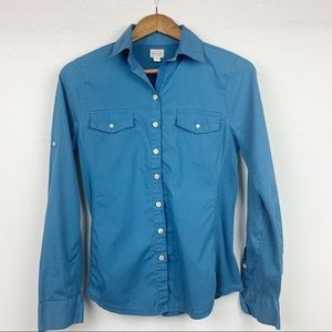 Converse One Star Blue Button Down Stretch Sides